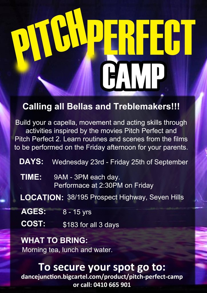 Helen Perris Music Studio Inspired by Pitch Perfect Camp